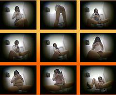 会社の女子トイレでオナニーするOLを盗撮!