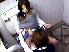 女子高生のレズカップルを盗撮