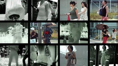 スケスケ赤外線カメラ!街の女性のスケスケパンティ!