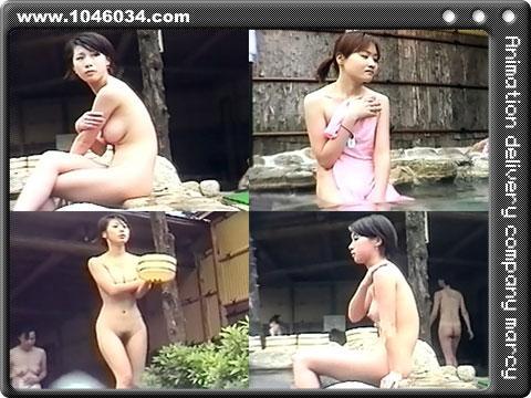 美巨乳がぷるんぷるんの露天風呂盗撮動画!女体を正面からのぞき見!
